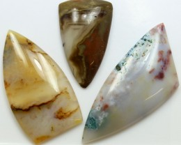 111.25 CTS  - 3 PCS AGATE POLISHED STONE PARCEL
