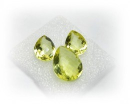 Natural Jewelery Set Lemon Quartz Stone Set J384