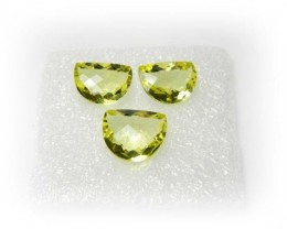 Natural Jewelery Set Lemon Quartz Stone Set J385