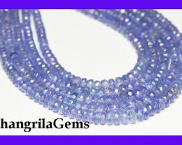 "*NEW* VIP Collection A+ TANZANITE beads  16"" line"
