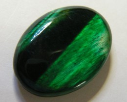 24 CTS TIGERS EYE DYED GREEN 11291