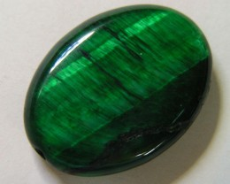 22 CTS TIGERS EYE DYED GREEN 11292