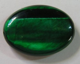 23 CTS TIGERS EYE DYED GREEN 11302