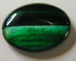 23 CTS TIGERS EYE DYED GREEN 11303