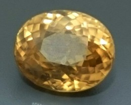 5.14 ct Golden Yellow ZIRCON Gemstone