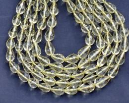 10mm Lemon Citrine Quartz faceted drop beads    WOW!!!