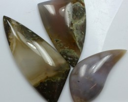 104.30 CTS  - 3 PCS AGATE POLISHED STONE PARCEL