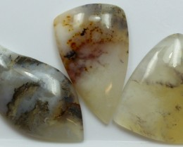 91.90 CTS  - 3 PCS AGATE POLISHED STONE PARCEL