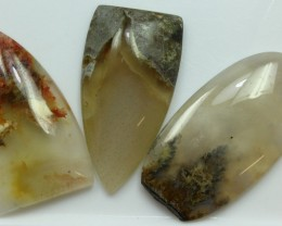 96.80 CTS  - 3 PCS AGATE POLISHED STONE PARCEL