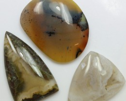 108.60 CTS  - 3 PCS AGATE POLISHED STONE PARCEL