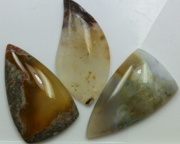 90.85 CTS  - 3 PCS AGATE POLISHED STONE PARCEL