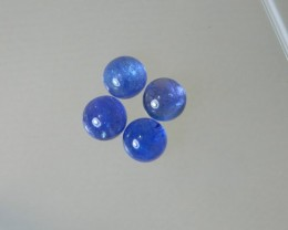 8x4mm 100% 4 pcs Natural Tanzanite Cab Stone J101