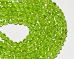 NEW ITEM   AAA PERIDOT round faceted beads 14