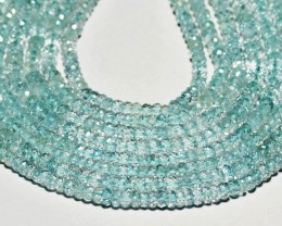 "AA AQUAMARINE 5mm 13.75"" line aq001"