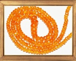 "SALE AAA Mandarin Spessartite Garnet 20"" necklace 4 to 8mm"