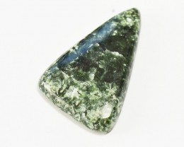 seraphinite cabochon 50mm triangle shape