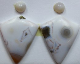 20.00 CTS OCEAN JASPER PAIR 4 STONES FOR EARRINGS