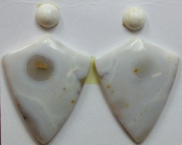 16.50 CTS OCEAN JASPER PAIR 4 STONES FOR EARRINGS