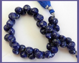 A+ LAPIS LAZULI 7-8.5 MM FACETED ONION BRIOLETTE BEADS!!