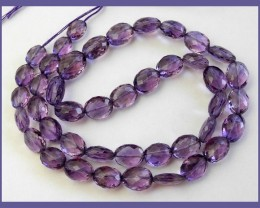 AAA+ STUPENDOUS 6X8-8X10MM AMETHYST FACETED OVAL BEADS