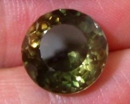 CERT 5.14ct SCHILLER Bi-Color Green OREGON SUNSTONE
