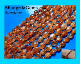 "16"" line Sunstone beads 7mm to 9mm 6.5 to 7.5 wide to 7mm to 9mm long from"