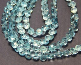 NEW ARRIVAL AAA Swiss Blue TOPAZ onion briolettes 5.5-6mm