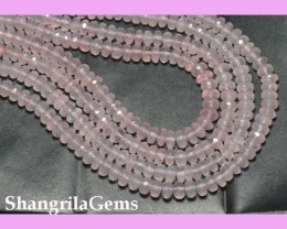 "sale 16"" line AA+ 5-6.5mm Rose Quartz faceted beads rq001"