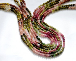 Watermelon Tourmaline 2mm - 2.5mm round beads 14