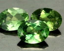 3.49 CTS PARCEL OF 3 NATURAL APATTIE - YELLOW GREEN [SB897]