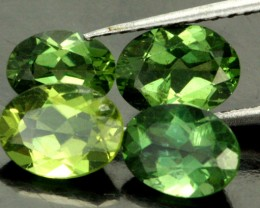 4.42 CTS PARCEL OF 4 NATURAL APATTIE - YELLOW GREEN [SB902]