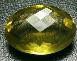 33ct 26mm Lemon Citrine also called Gold Green Citrine
