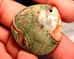 89 Carat Spider Agate Pendant Stone 40mm by 40