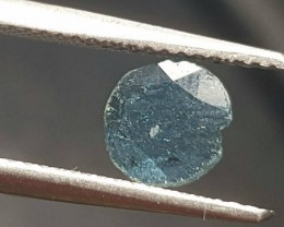 0.25ct 7.1mm blue diamond slice 0.25ct 7.1 by 6.8 by 0.5mm