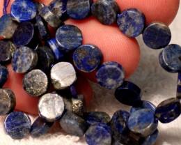 77 Tcw. Himalayan Lapis Lazuli Strand, 7mm pcs. - Lovely