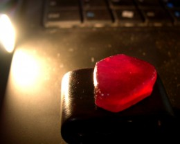IMPORTANT CUTABLE ROUGH RUBY 49,12CTS