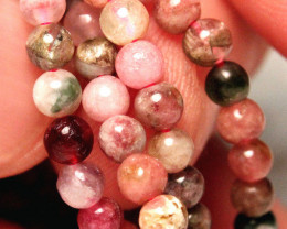 52 Tcw. Tourmaline Strand, 16 inches, 4mm Pcs. - Lovely