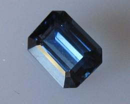 1.23cts Natural Australian Blue Emerald Cut Sapphire