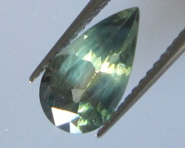 1.71cts Natural Australian Pear Shape Parti Colour Sapphire