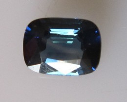 1.15cts Natural Australian Cushion Cut Blue Sapphire