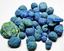 250.00 CTS PARCEL OF AZURITE BALLS [FLA142]