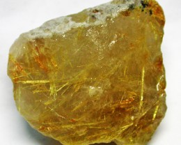 80.00 CTS 'STAR BURST' RUTILATED QUARTZ ROUGH [FLA185]