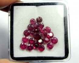 CERT 10 CTS FACETED  RED RUBY PARCEL 11 782