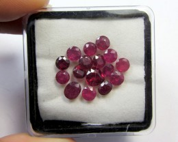 CERT 10 CTS FACETED  RED RUBY PARCEL 11 783