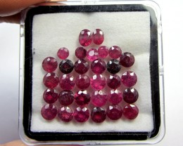 CERT 15 CTS FACETED  RED RUBY PARCEL 11 786