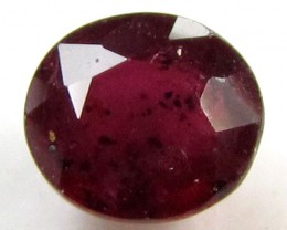 1.70 CTS FACETED ROUND RED RUBY STONE 11 927