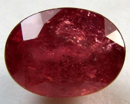 8 CTS FACETED OVAL RED RUBY STONE 11 974