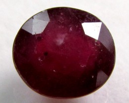 2.10 CTS FACETED ROUND RED RUBY STONE 11 909