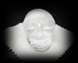 AAA+ Natural Nepal Crystal Carved Skulll 372cts