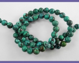 FABULOUS AAA 6.00MM NATURAL CHINESE ROUND TURQUOISE BEADS!!